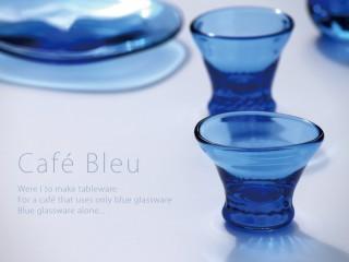 はざまよいこ ガラス展  Cafe' Bleu