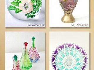 描く~それぞれのガラスの世界~安部川亜紀、大豆生田綾子、山崎葉、中野由紀子
